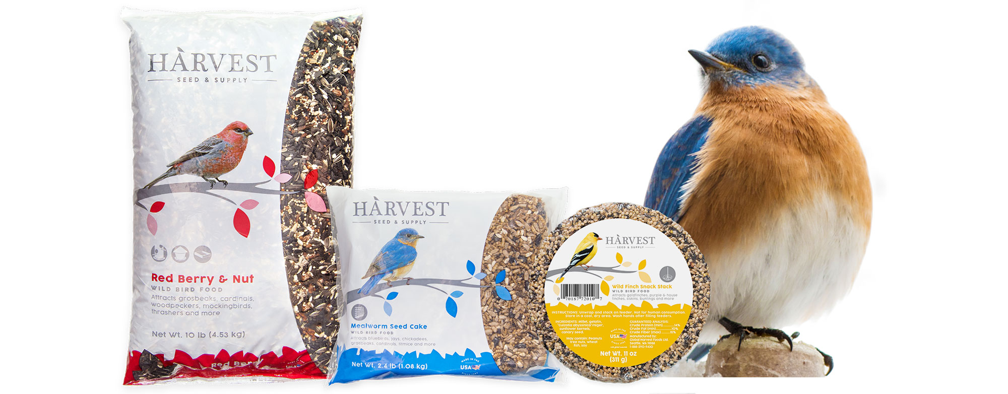 Harvest is a new line of simple, natural, family-made wild bird food created right here in America.